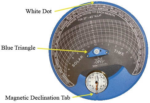 상품 상세보기 솔라모듈 설치용 측정기 솔라 경로 추적기 Solar Path Finder